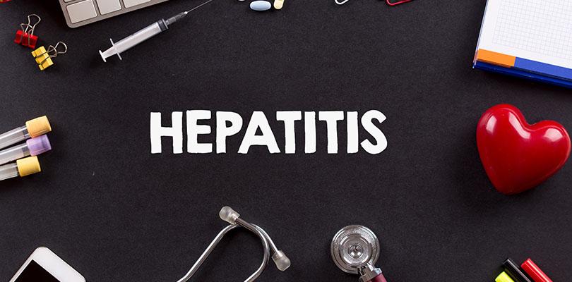 """The word """"hepatitis"""" is written on a chalkboard"""
