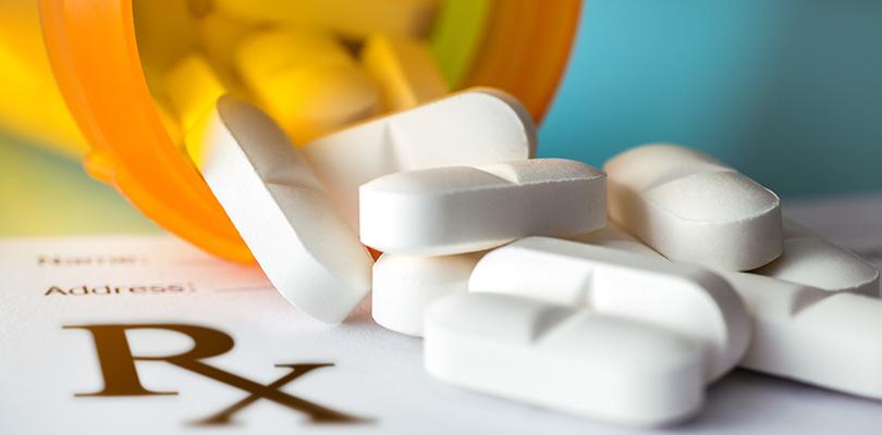 Prescription white pills