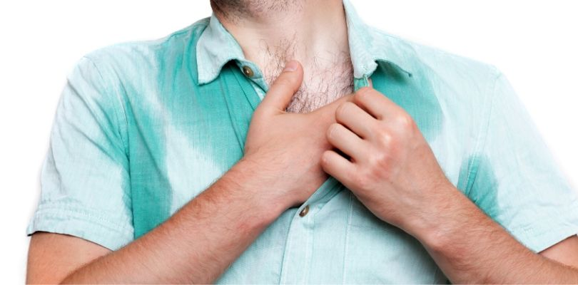 Excessive sweating can be caused by health conditions and diet choices.