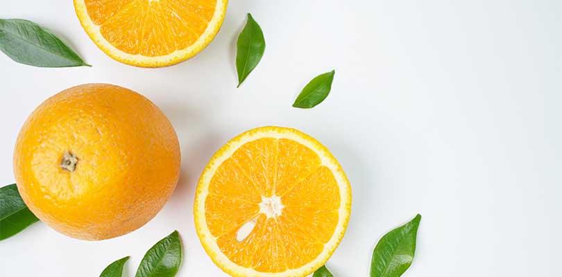 Lemons against a white background.